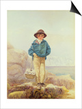 Young England - a Fisher Boy Print by Alfred Downing Fripp