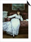 The Rest, Portrait of Berthe Morisot, 1870 Posters by Édouard Manet