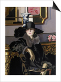 A Lady in Black Poster by Francis Campbell Boileau Cadell