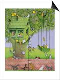 Cat Tree House Prints by Pat Scott