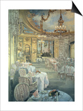 The Ritz Restaurant Print by Peter Miller
