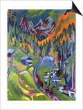 Sertig Path in Summer; Sertigweg Im Sommer, 1923 Posters par Ernst Ludwig Kirchner