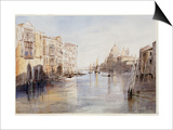 The Grand Canal, with Santa Maria Della Salute, Venice, Italy, 1865 Poster by Edward Lear