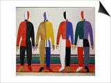 Sportsmen, or Suprematism in Sportsmen's Contours, 1928-32 Plakater af Kasimir Malevich