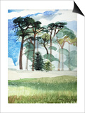 Wiltshire Pines, 1989 Posters by Anna Teasdale