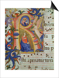 The Annunciation Depicted in an Historiated Initial 'R', Detail from a Missal, c.1430 Prints by  Fra Angelico