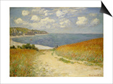 Path in the Wheat at Pourville, 1882 Prints by Claude Monet