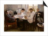 The Night Before the Exam, 1935 Prints by Leonid Osipovic Pasternak