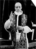 One of the First Pictures of Pope Pius XII after His Coronation, Rome, 1939 Prints