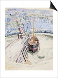 The 'Sans Pareil' in Brixham Harbour, c.1931 Affischer av Dora Carrington