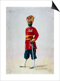 Soldier of the 35th Sikhs, Subadar, Illustration for 'Armies of India' by Major G.F. MacMunn,… Posters by Alfred Crowdy Lovett
