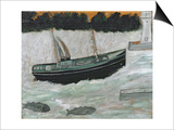 Lighthouse with Trawler and Fish Prints by Alfred Wallis