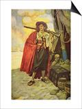 Buccaneer of Hispaniola in the Caribbean Posters by Howard Pyle