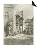 Town Hall, Halberstadt Print by Carl Friedrich Heinrich Werner