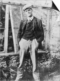 James Joyce in the Garden of His Friend Constantine Curran in Dublin, 1904 Posters by  Irish Photographer