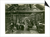 Axminster Weaving, Carpet Factory, 1923 Print by  English Photographer