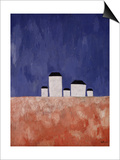 Landscape with Five Houses, c.1932 Plakater af Kasimir Malevich
