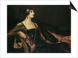 A Lady in Black: Portrait of Jean Ainsworth, Viscountess Massereene and Ferrard, 1917 Prints by Sir John Lavery