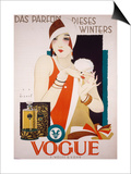 German Advertisement for 'Vogue' Perfume, Printed by Wolff and Sohn, 1927 Art by Jupp Wiertz