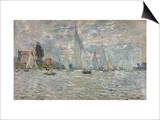 The Boats, or Regatta at Argenteuil, circa 1874 Art by Claude Monet