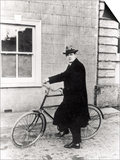 Michael Collins (1870-1922) with His Famous Bicycle Art by  Irish Photographer