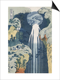 Amida Waterfall on the Kiso Highway Poster by Katsushika Hokusai