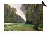 The Road to Bas-Breau, Fontainebleau, circa 1865 Print by Claude Monet