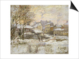 Snow Effect with Setting Sun, 1875 Prints by Claude Monet