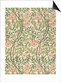 sweet Briar' Design for Wallpaper, Printed by John Henry Dearle (1860-1932) 1917 Prints by William Morris