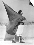 Woman with Flag, Mexico City, 1928 Posters by Tina Modotti