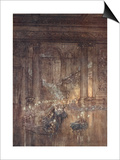 Through the House Give Glimmering Light, by the Dead and Drowsy Fire Posters by Arthur Rackham