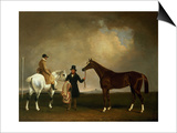Mr Sadler's 'Decisive' Held by His Trainer with the Jockey John Day Jnr., Stockbridge Racecourse, Prints by George Cole