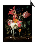 Still Life of Flowers, 1669 Poster von Maria Van Oosterwyck