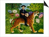 Henri Rousseau's Dream, 1997 Poster by Frances Broomfield