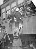 Us Army Recruits Bid Farewell to Family before the Train Journey to Training Camp, 1917 Print by  American Photographer
