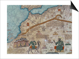 Detail from the Catalan Atlas, 1375 Posters by Abraham Cresques