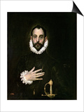 A Nobleman with His Hand on His Chest, circa 1577-84 Prints by  El Greco