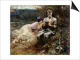 The Temptation of Sir Percival, 1894 Posters by Arthur Hacker