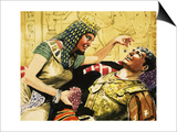 Cleopatra and Caesar Print by Don Lawrence