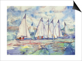 Blue Sailboats, 1989 Prints by Brenda Brin Booker