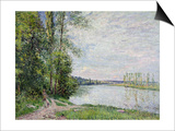 The Riverside Road from Veneux to Thomery, 1880 Posters by Alfred Sisley