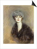 Portrait of Lucette, c.1913 Poster by Paul Cesar Helleu