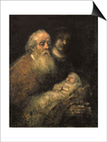 Simeon in the Temple, 1669 Poster by  Rembrandt van Rijn