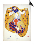 Costume Design for a Dancer in 'Scheherazade', a Ballet First Produced by Diaghilev Prints by Leon Bakst