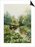 Summerday at the Stream; Sommerdag Ved Aen, 1909 Posters by Peder Mork Monsted