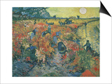 Red Vineyards at Arles, 1888 Prints by Vincent van Gogh