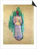 La Promeneuse Láminas por Henri de Toulouse-Lautrec