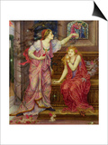 Queen Eleanor and Fair Rosamund Art by Evelyn De Morgan