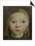 Head of a Girl Posters by Paula Modersohn-Becker