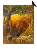 The Magic Apple Tree Poster van Samuel Palmer